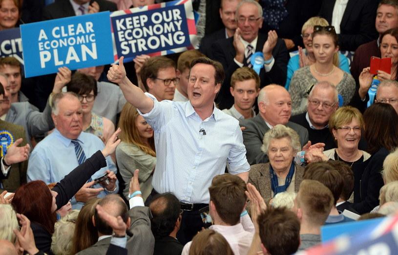 Premier Wielkiej Brytanii David Cameron /PAP/EPA