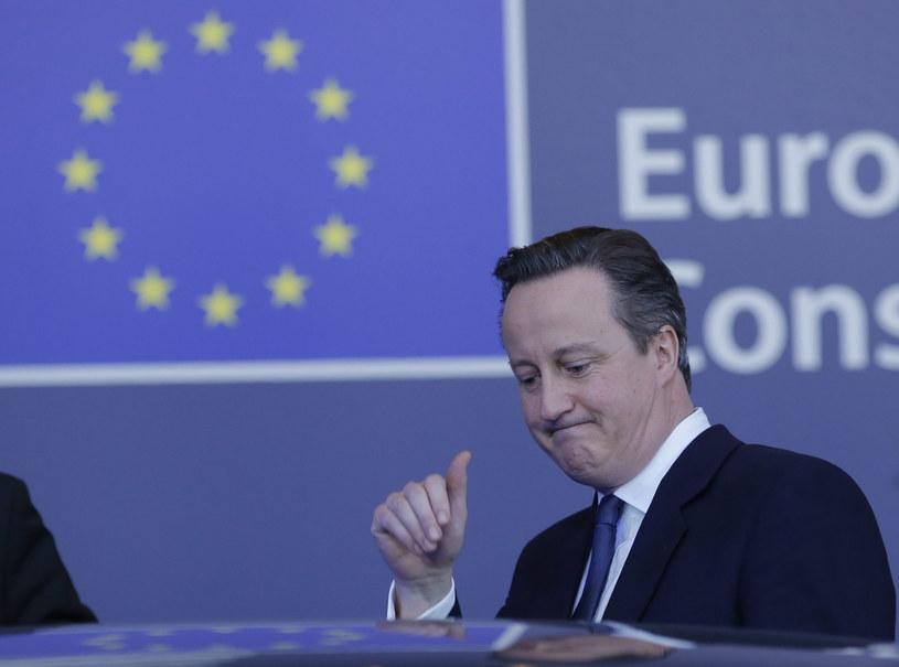 Premier Wielkiej Brytanii David Cameron /OLIVIER HOSLET /PAP/EPA