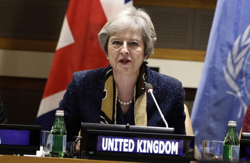 Premier Wielkiej Brytanii podkreśliła zarazem, że obecnie pracuje nad wypracowaniem dobrego porozumienia z Unią Europejską /Peter Foley /PAP/EPA