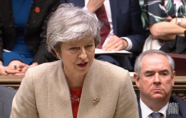 Premier Wielkiej Brytanii Theresa May /UK PARLIAMENTARY RECORDING UNIT / HANDOUT /PAP/EPA