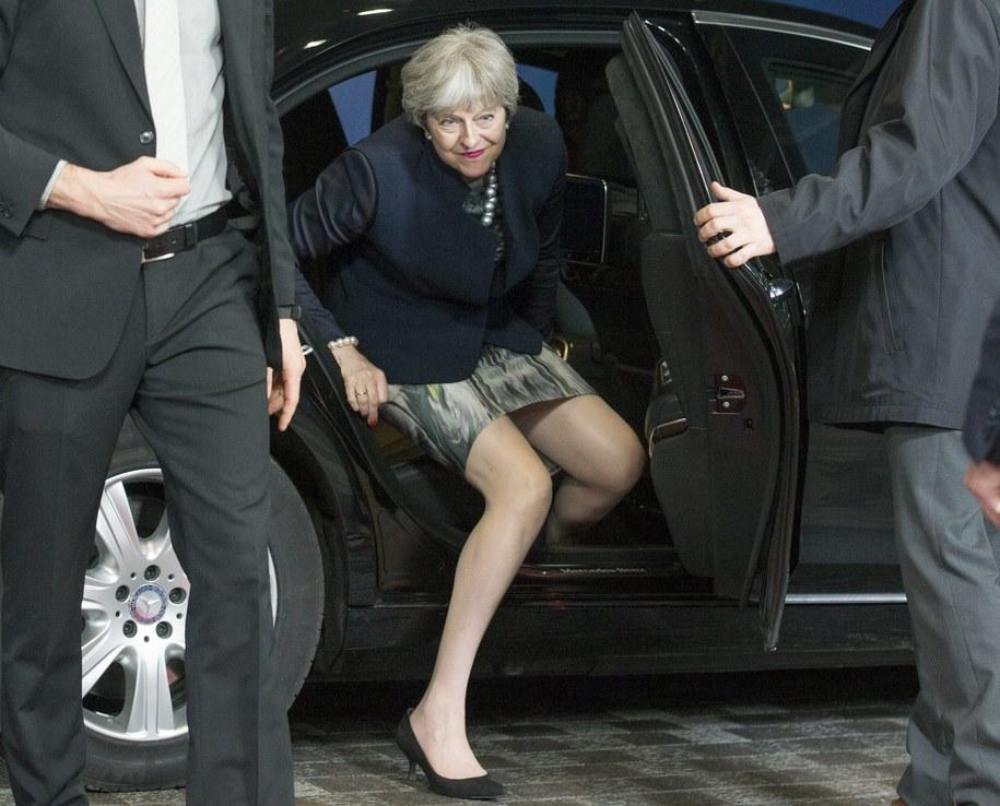 Premier Wielkiej Brytanii w Brukseli /STEPHANIE LECOCQ  /PAP/EPA