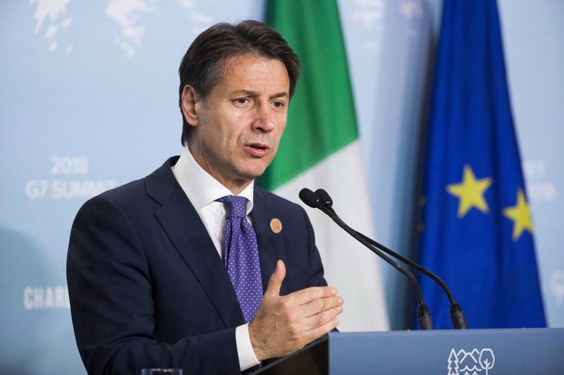 Premier Włoch Giuseppe Conte /MICHAEL REYNOLDS    /PAP/EPA
