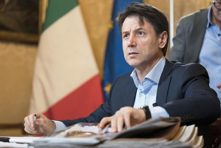 Premier Włoch Giuseppe Conte /FILIPPO ATTILI / CHIGI PALACE PRESS OFFICE / HANDOUT /PAP/EPA