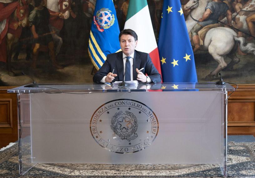 Premier Włoch Giuseppe Conte /FILIPPO ATTILI / CHIGI PALACE /PAP/EPA