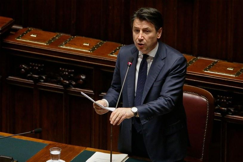 Premier Włoch Giuseppe Conte /ANSA FABIO FRUSTACI /AFP