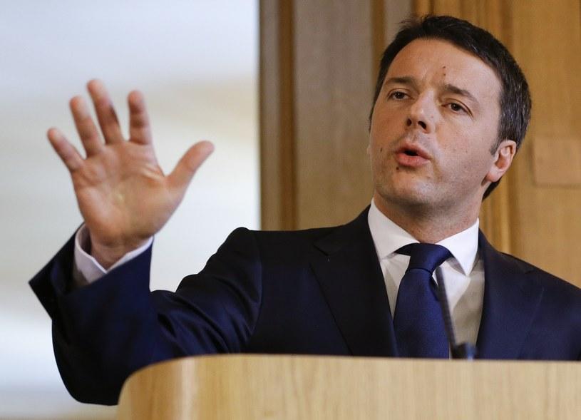 Premier Włoch Matteo Renzi. /AFP
