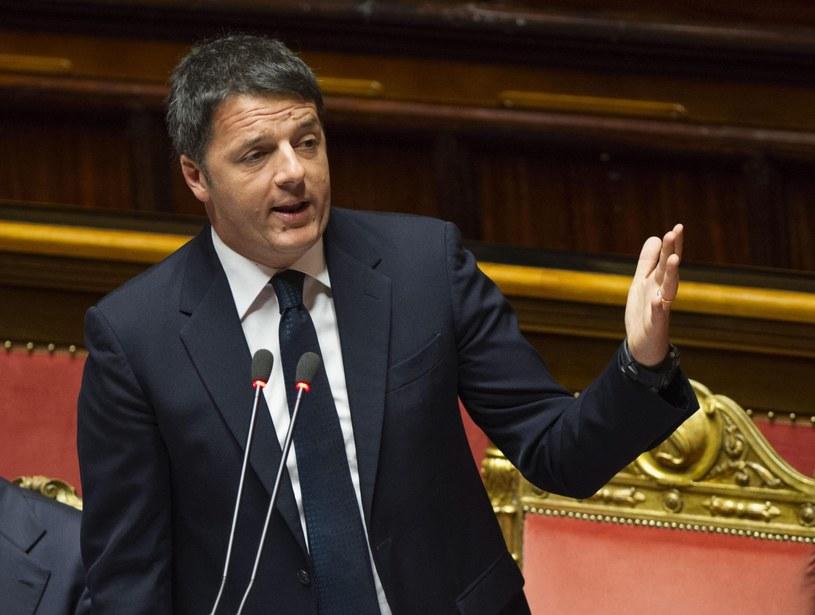 Premier Włoch Matteo Renzi /PAP/EPA