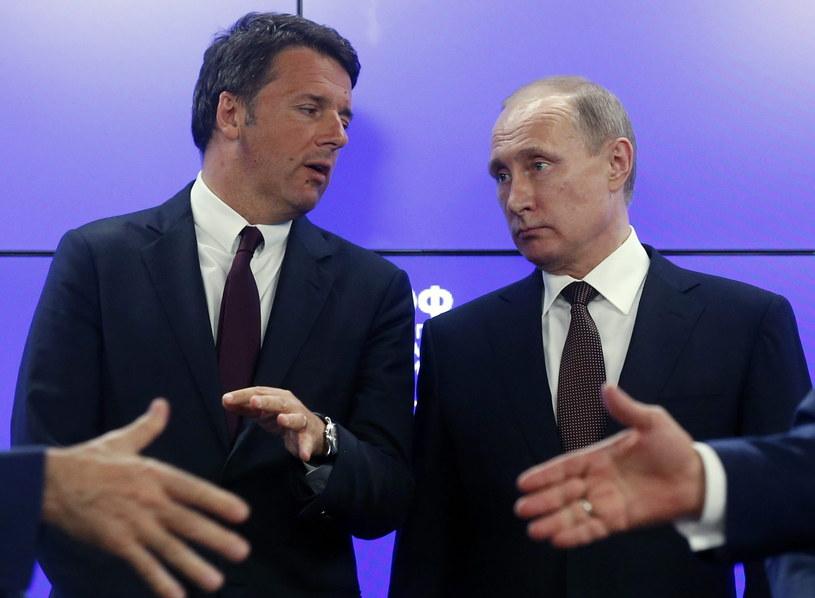 Premier Włoch spotkał się z prezydentem Rosji /PAP/EPA