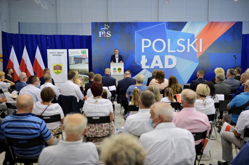 Premier z wizytą w Górznie (woj. mazowieckie) /PAP/Przemysław Piątkowski /PAP
