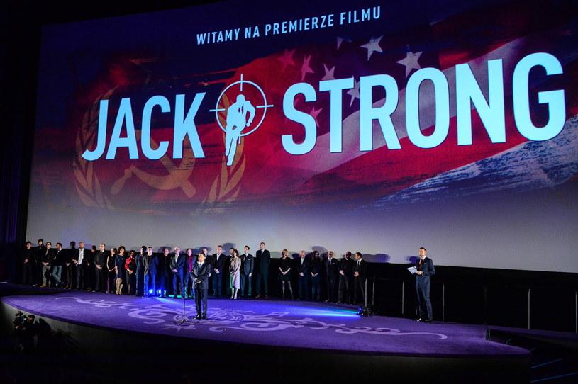 """Premiera filmu Władysława Pasikowskiego pt. """"Jack Strong"""" w Warszawie. /Stach Leszczyński /PAP"""