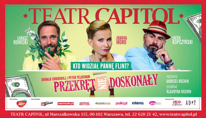 """Premiera sztuki """"Przekręt (nie)doskonały""""  5 i 10 października w Teatrze Capitol /materiały prasowe"""