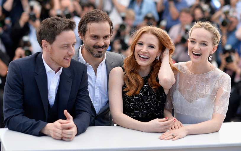 "Premiera ""Zaginięcia Eleanor Rigby"": James McAvoy, Ned Benson, Jessica Chastain oraz Jess Weixler /Pascal Le Segretain /Getty Images"