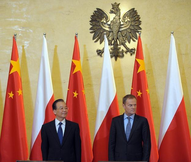 Premierzy Chin i Polski /AFP