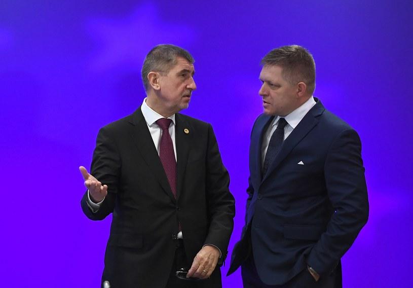 Premierzy Czech i Słowacji: Andrej Babisz i Robert Fico /AFP