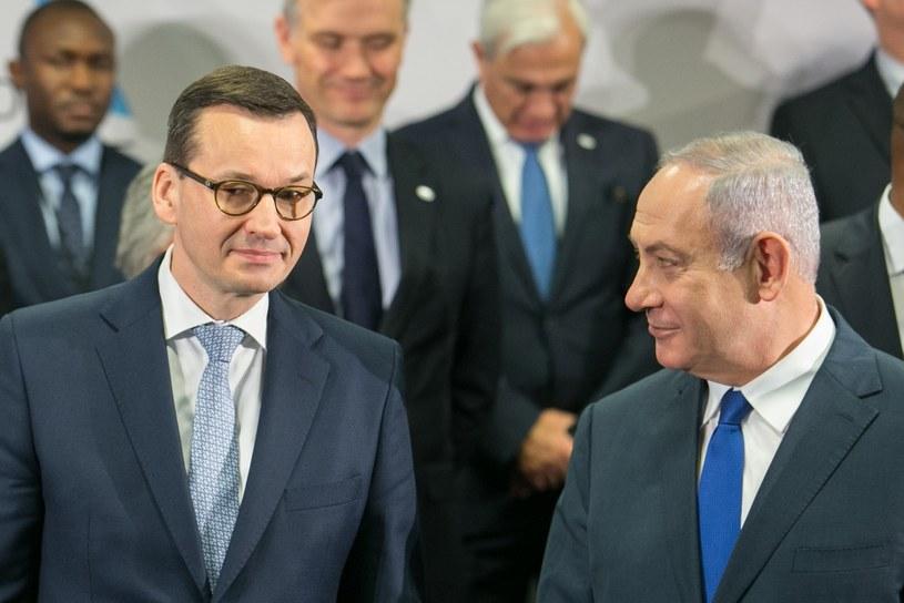 Premierzy Mateusz Morawiecki i Benjamin Netanjahu /Fot. Tomasz Jastrzębowski/REPORTER /Reporter