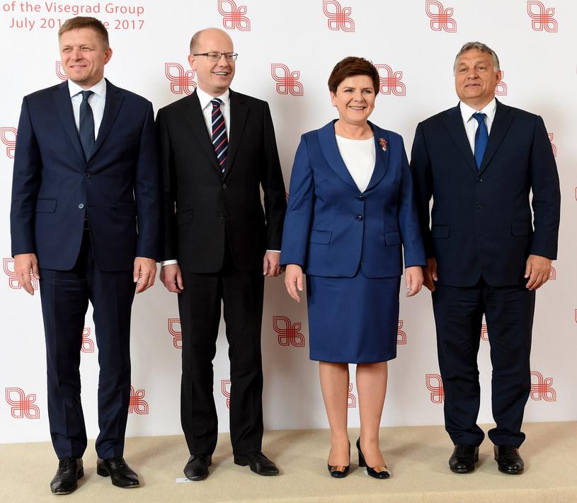 Premierzy państ Grupy Wyszehradzkiej /AFP
