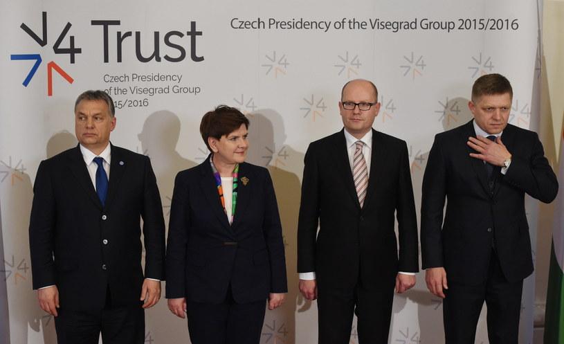 Premierzy państw Grupy Wyszehradzkiej /Radek  Pietruszka /PAP