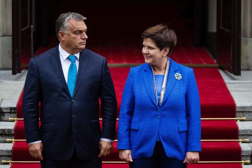 Premierzy Polski i Węgier - Beata Szydło i Viktor Orban /AFP