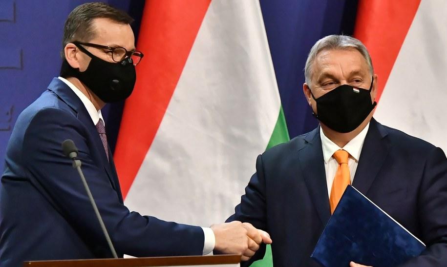 Premierzy Polski i Węgier: Mateusz Morawiecki i Viktor Orban /Andrzej Lange /PAP