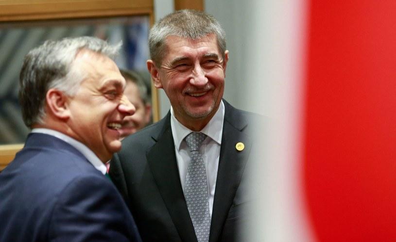 Premierzy Węgier i Czech, Viktor Orban i Andrej Babisz /AFP