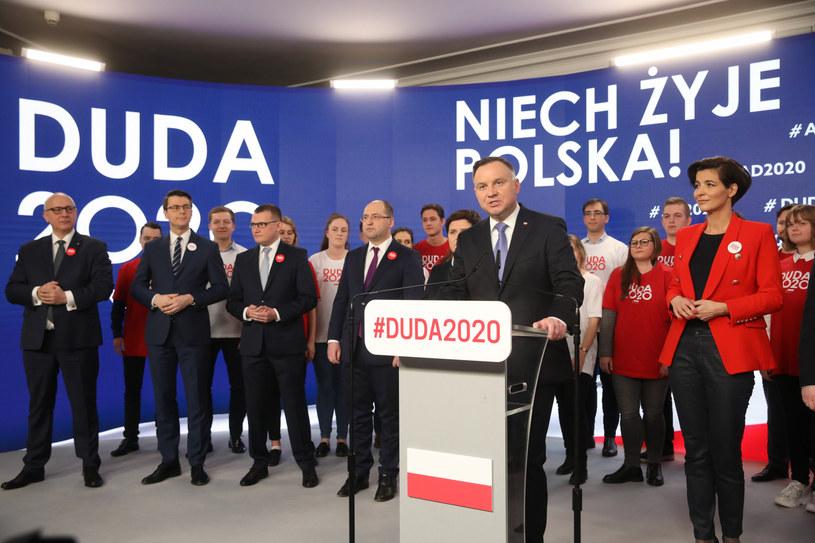 Prezentacja sztabu Andrzeja Dudy /Andrzej Iwańczuk /Reporter
