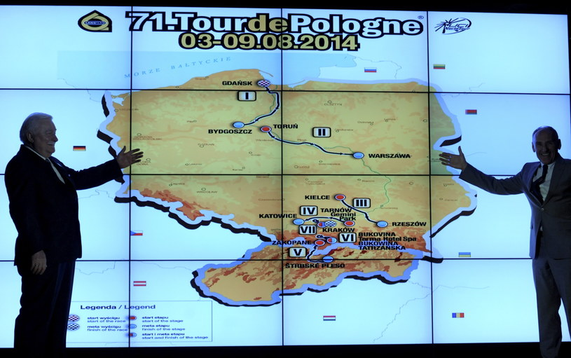Prezentacja trasy 71. Tour de Pologne /Fot. Bartłomiej Zborowski /PAP