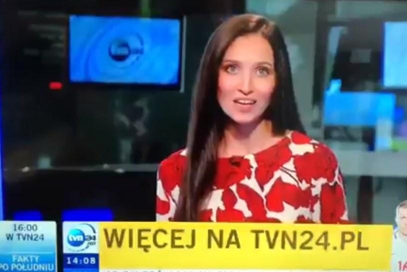 Prezenterka TVN24 w akcji z Cristianem Ronaldo. /