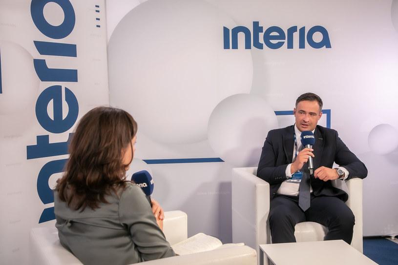 Prezes Bogdanki Artur Wasil w studiu Interii podczas XXX Forum Ekonomicznego w Karpaczu. /Ireneusz Rek /INTERIA.PL