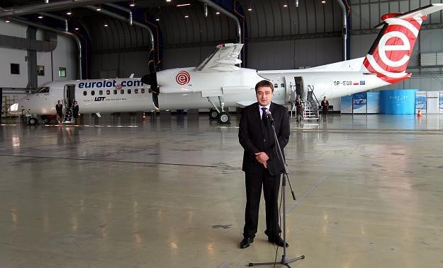 Prezes Eurolotu Mariusz Dąbrowski /PAP