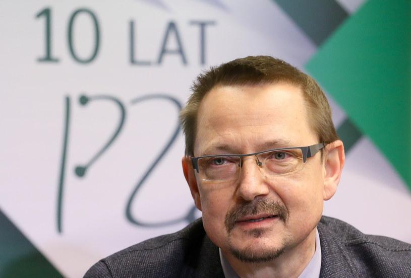 """Prezes Federacji """"Porozumienie Zielonogórskie"""" Jacek Krajewski /Paweł Supernak /PAP"""