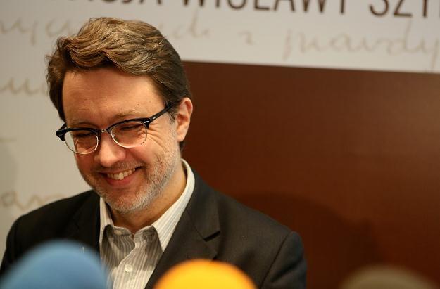 Prezes Fundacji Wisławy Szymborskiej,  Michał Rusinek /fot. Stanisław Rozpędzik /PAP