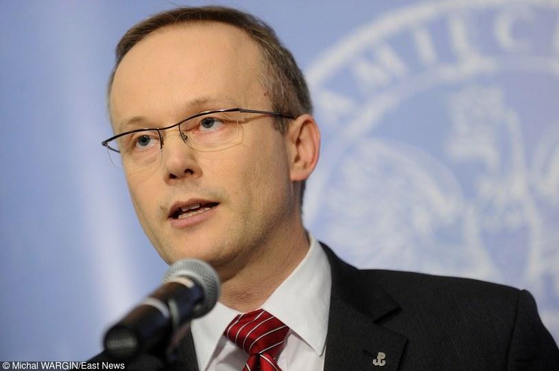 Prezes IPN Łukasz Kamiński /Michal WARGIN /East News