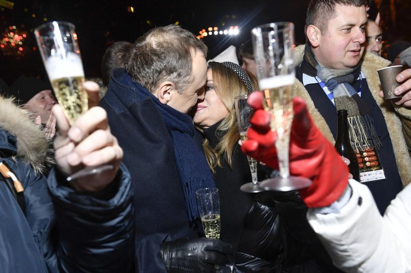 Prezes Jacek Kurski wita z żoną Nowy Rok w Zakopanem /AKPA