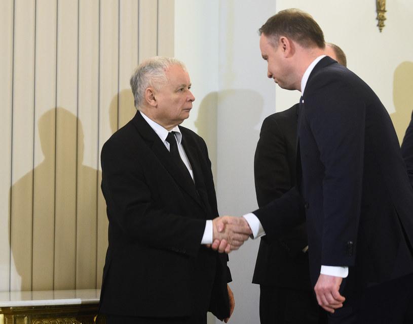 Prezes Jarosław Kaczyński i prezydent Andrzej Duda: Rozpoczęła się walka o przyszłe przywództwo na polskiej prawicy? /Adam Chełstowski /FORUM