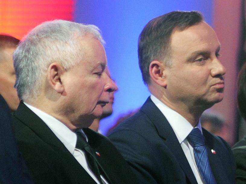 Prezes Jarosław Kaczyński i prezydent Andrzej Duda /Jan Bielecki /East News