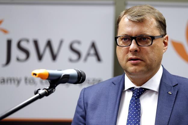Prezes JSW Tomasz Gawlik /fot. Andrzej Grygiel /PAP