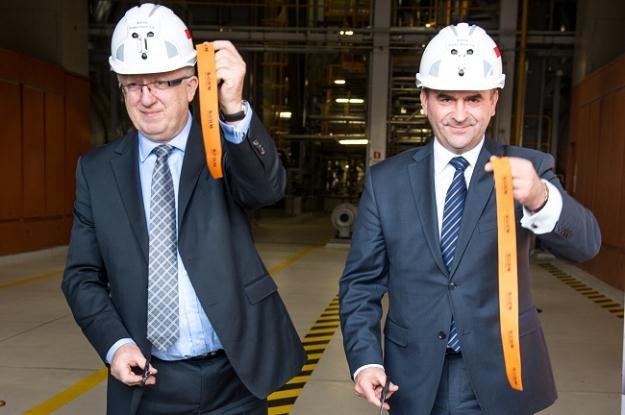 Prezes KGHM Herbert Wirth i minister skarbu Włodzimierz Karpiński, fot. Maciej Kulczyński /PAP