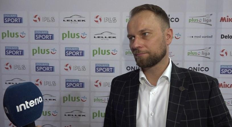 Prezes klubu z Warszawy Piotr Gacek /INTERIA.PL