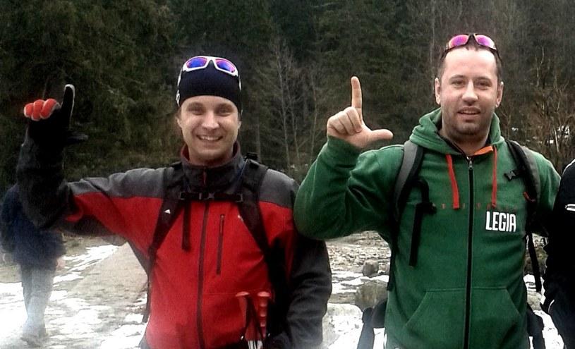 Prezes Legii Bogusław Leśnodorski (z prawej) i dyrektor zarządzający Jakub Szumielewicz podczas wypoczynku w polskich Tatrach. /INTERIA.PL