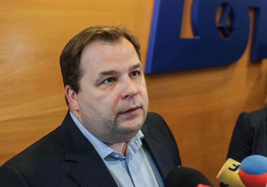 Prezes LOT-u Sebastian Mikosz /Jakub Kamiński   /PAP