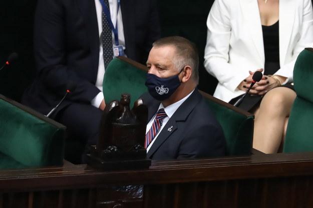 Prezes NIK Marian Banaś na sali obrad Sejmu /Tomasz Gzell /PAP