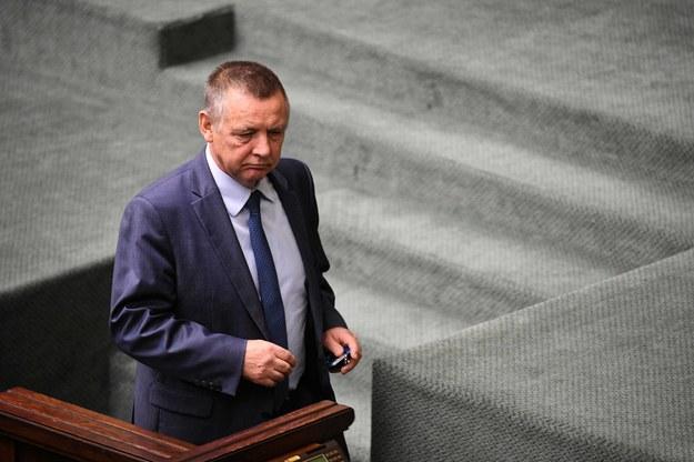 Prezes NIK Marian Banaś na sali sejmowej / Radek Pietruszka   /PAP