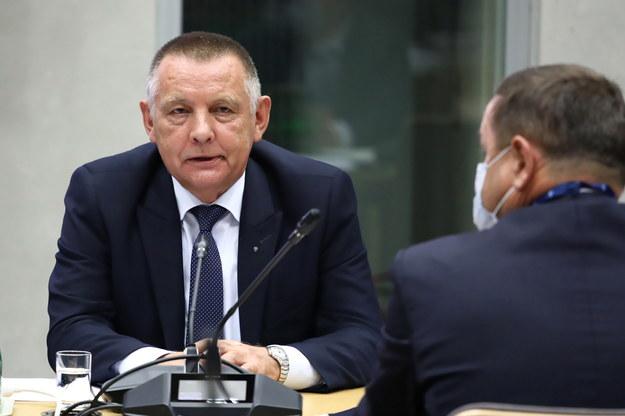 Prezes NIK Marian Banaś podczas posiedzenia sejmowej komisji ds. kontroli państwowej, 14 września /Tomasz Gzell /PAP