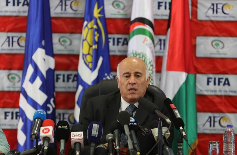 Prezes Palestyńskiej Federacji Piłkarskiej Jibril Rajoub /Abaca /Newspix