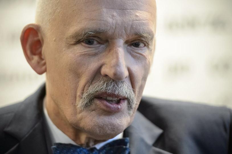 Prezes partii KORWiN Janusz Korwin-Mikke /Wojciech Pacewicz /PAP