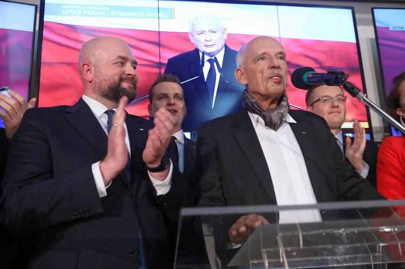 Prezes partii KORWiN Janusz Korwin-Mikke / Tomasz Gzell    /PAP