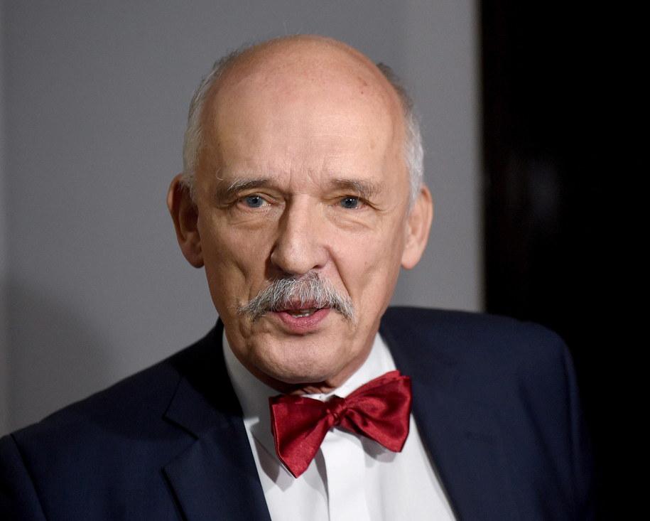 Prezes partii Wolność, (jeszcze) europoseł Janusz Korwin-Mikke /Radek Pietruszka /PAP
