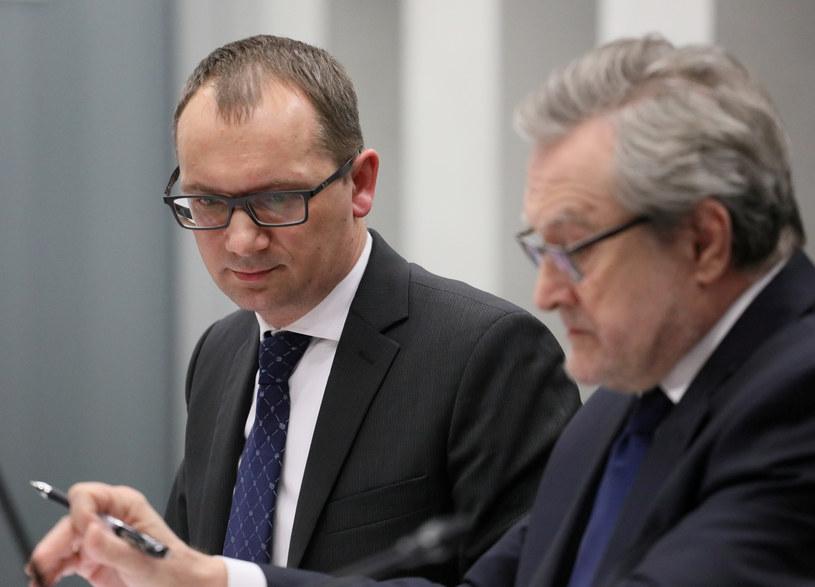 Prezes PFN Marcin Zarzecki i minister kultury Piotr Gliński / Jakub Kamiński    /East News