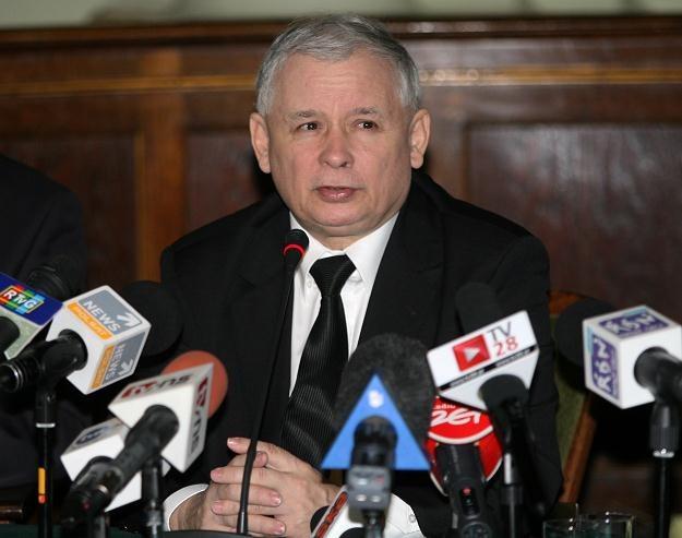 Prezes PiS Jarosław Kaczyński, fot. Grzegorz Momot /PAP