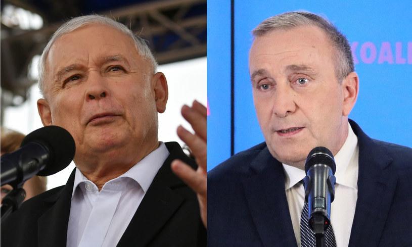 Prezes PiS Jarosław Kaczyński (fot. Piotr Polak) i przewodniczący PO Grzegorza Schetyna (fot. Jakub Kamiński) /PAP